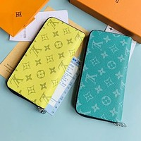 Louis Vuitton LV Hot Sale New Men's and Women's Printed Letter Long Zip Wallet