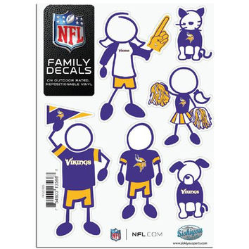 Minnesota Vikings NFL Family Car Decal Set (Small)