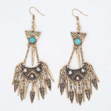 Vintage Chandelier Arrow Earrings