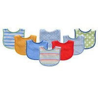8-Pack Colorful Printed Baby Bibs | Affordable Infant Clothing