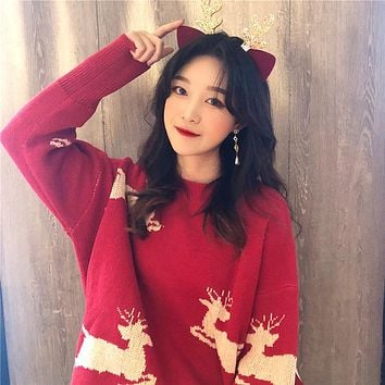 Cute Pattern Chiristmas Pullover Sweater