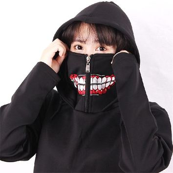 New Tokyo Ghoul hooded hoody Anime Ken Kaneki Cosplay Hooded overcoat Fashion Men 3D Short Sleeve hoodies