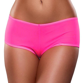 Neon Pink, Blacklight Reactive Mesh Boy Short in L/XL