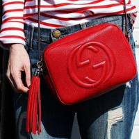Gucci Fashion Double G Ladies Single Shoulder tassels Red