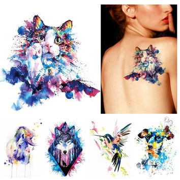 Tattoo Sticker  1x DIY Body Art Temporary  Drawing Horse Butterfly