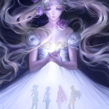 Sailor Moon Serenity Art Print by Hart-coco
