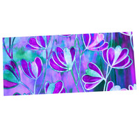 "Ebi Emporium ""Efflorescence - Lavender Blue"" Teal Purple Desk Mat"