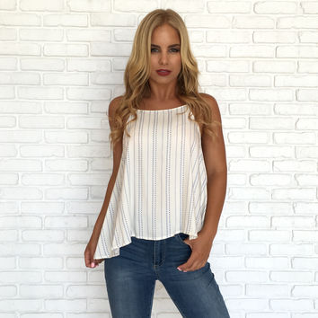 On The Dot Tank Blouse
