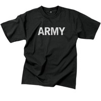 Black Military Physical Training ''Army'' T-Shirt