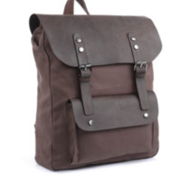 VINTAGE CASUAL CANVAS & LEATHER TRAVEL STUDENT BACKPACK