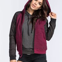Hurley Max Sherpa Womens Jacket Merlot  In Sizes