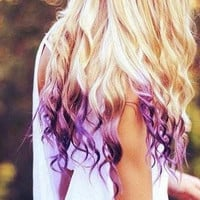 Temporary Hair Color  Dip Dye PICK A COLOR  by ShareeBoutique