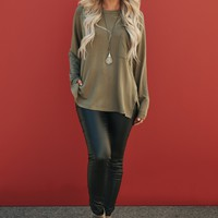 One Day At A Time Top (Olive)