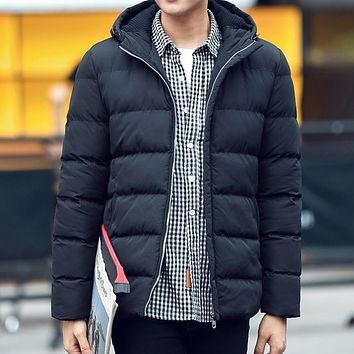 Casual Hooded Winter Coat Men  Waterproof Warm