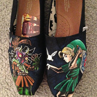 Legend of Zelda, Majora's Mask Toms. Featuring Link and Skull Kid