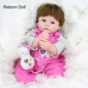 Silicone Baby Dolls 40cm Gift 16 Inches Alive Soft Bouquets