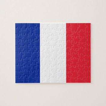 Puzzle with Flag of France