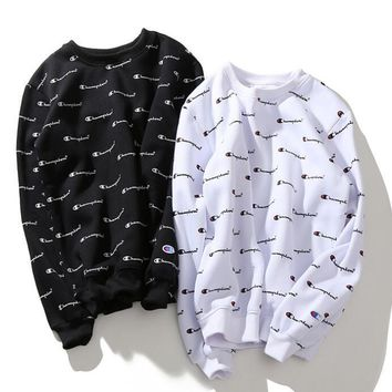 Champion Fashion Printed Round Neck Top Sweater Sweatshirt