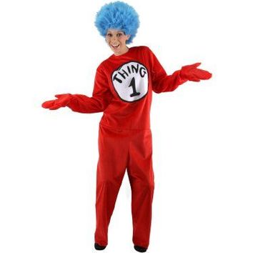 Dr. Seuss The Cat in the Hat Thing 1 and Thing 2 Deluxe Adult Costume