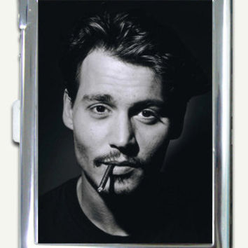Johnny Depp Cigarette Case Built in Lighter by ArtTasty on Etsy