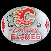 Calgary Flames NHL Enameled Belt Buckle