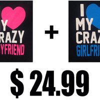 I heart my crazy girlfriend and I heart my crazy boyfriend