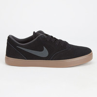 Nike Sb Check Mens Shoes Black  In Sizes