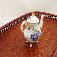 "Vintage of ""Regal"" Miniature Coffee Pot, ""Regal"" Porcelain Mini Coffee Pot, Doll House Coffe Pot"