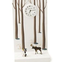 DANCING THE MOOSE AWAY CLOCK | Handpainted Desk Clock Combines Surrealism And Time | UncommonGoods