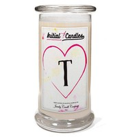 Letter T Initial Candles
