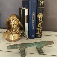 Boat Cleat/ Boat Dock Cleat/ Towel Holder Cleat/ Boat Cleat Towel Holder/ Nautical Decor/ Nautical Wall Decor/ brass boat cleat