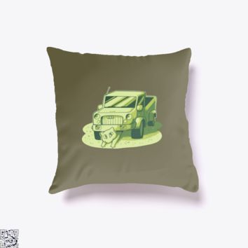 Mew Under The Truck, Pokemon Throw Pillow Cover