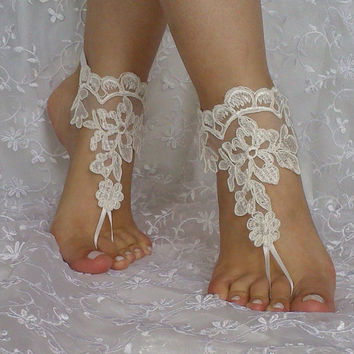 Beach wedding barefoot sandal