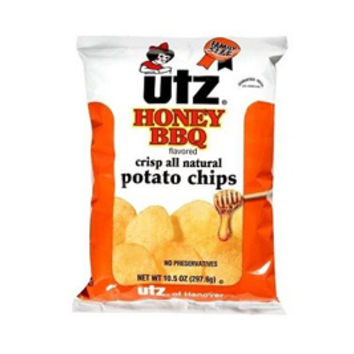 Utz Honey BBQ Potato Chips 3.5 oz Bags - Pack of 12