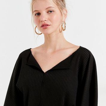 Kimchi Blue Riki Ribbed Cropped Top | Urban Outfitters
