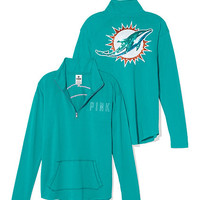 Miami Dolphins Bling Half Zip Pullover - PINK - Victoria's Secret