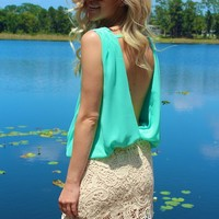 Mint Crochet Dress