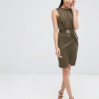 Michelle Keegan Loves Lipsy Belted Wrap Dress at asos.com
