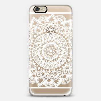 White Tribal Lace Mandala on Clear iPhone 6 case by Tangerine- Tane | Casetify