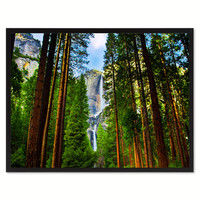 Yosemite Waterfalls Landscape Photo Canvas Print Pictures Frames Home Décor Wall Art Gifts