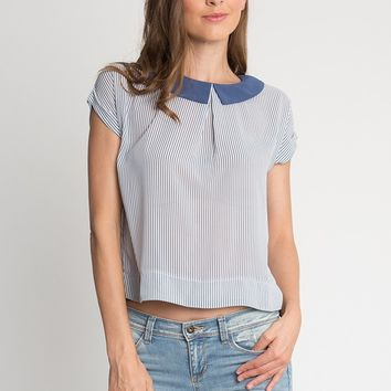 Eastern Hills Striped Blouse | Ruche
