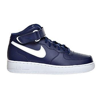 Nike Air Force 1 Mid '07 Men's Shoes Midnight Navy/White 315123-407 nike air force