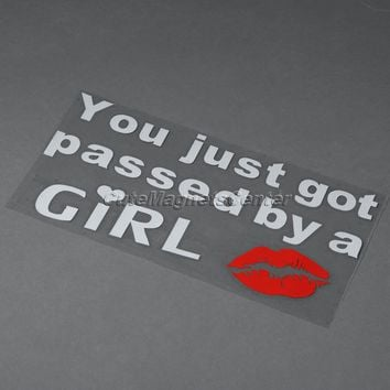 Car-styling KTM You Just Got Passed By A GIRL Cars Styling Lip Motorcycle Sticker Truck Car-detector Decals Stickers Accessories