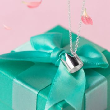 925 sterling silver CROWN necklace D2741-0415 -Gifts box