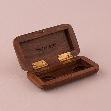 Pocket Size Wooden Wedding Ring Box (Pack of 1)