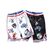 Nike Supreme NBA Teams Summer Fashion Casual Print Sport Shorts I-CP-ZDL-YXC