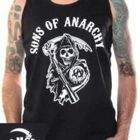 ROCKWORLDEAST - Sons Of Anarchy, Tank Top, Reaper Logo