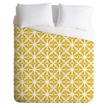 Heather Dutton Diamante Gold Duvet Cover