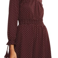 Topshop Polka Dot Shirred Waist Dress | Nordstrom