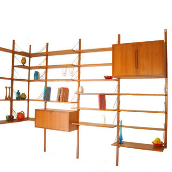 Mid Century Teak Wall Unit Made in Norway